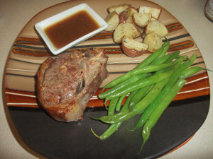 FC Day 7 – Lamb Chops w/Beer & Mustard Sauce