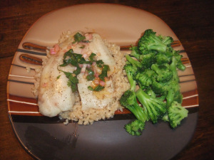 Baked Fish with Moroccan Vinaigrette