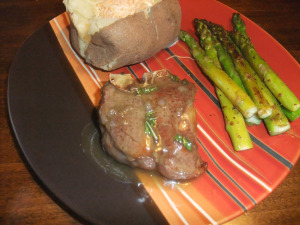 FC Day 22 – Lamb Chops with Mint Pan Sauce