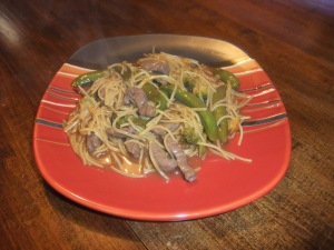 FC Day 19 – Orange Teriyaki Beef with Noodles