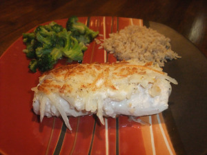 FC Day 20 – Potato-Horseradish-Crusted Mahi Mahi