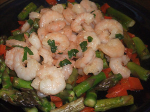 Lemony, Garlicky Shrimp & Veggies