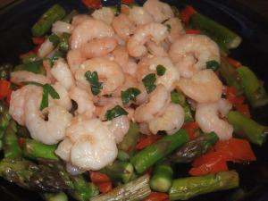 Lemony, Garlicky Shrimp & Veggies