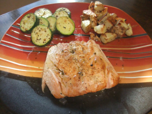 Salmon with White Wine & Lemon Sauce