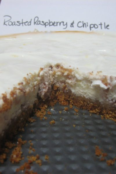 What's Baking: Roasted Raspberry & Chipotle Cheesecake with Lemon Glaze