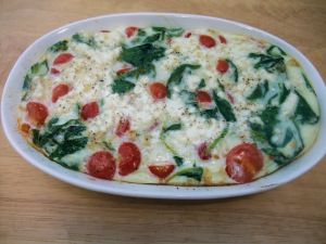 Spinach & Egg White Frittata