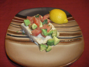 Mahi Mahi with Tomato-Avocado Salsa