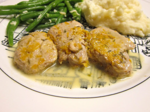 Pork with Citrus-Rum Sauce