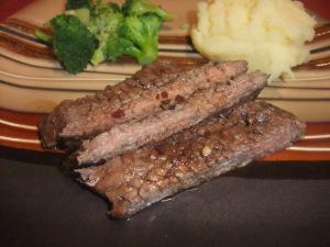 Balsamic Glazed Skirt Steak