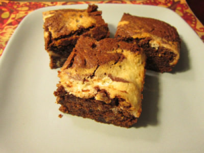 Double Fudge Cream Cheese Brownies