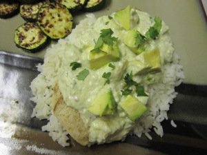 Mahi Mahi with Creamy Green Sauce