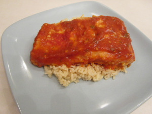 Salmon in Spicy Garlic Tomato Sauce