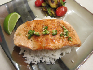Pan-Seared Salmon with Ginger-Lime Sauce
