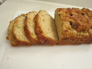 Daring Bakers: Green Onion, Cheddar, and Asiago Beer Batter Bread