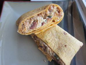 Sammich Saturday: BBQ Cheddar Bacon Ranch Chicken Salad Wrap