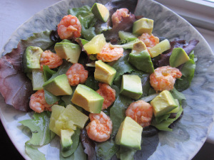 Creole Shrimp, Avocado, and Pineapple Salad