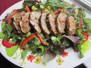 Grilled Asian Pork Tenderloin Salad
