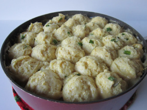 Salsa Verde Chicken 'n' Dumplings