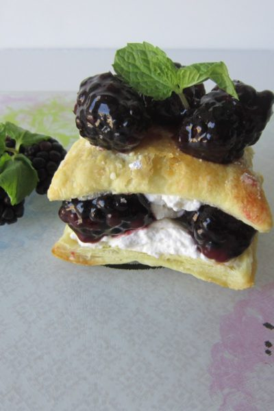 Blackberry Napoleons with Mascarpone Mousse