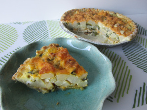 Roasted Poblano and Potato Quiche