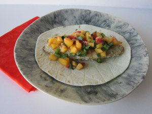 Taco Tuesday: Tilapia Tacos with Peach Relish