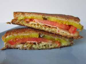 Sammich Saturday: Tomato, Pickle, and Potato Chip Grilled Cheese