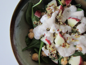 Middle Eastern Bulgur-Spinach Salad