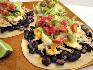 Taco Tuesday: Chicken & Black Bean Tostadas with Avocado Salsa