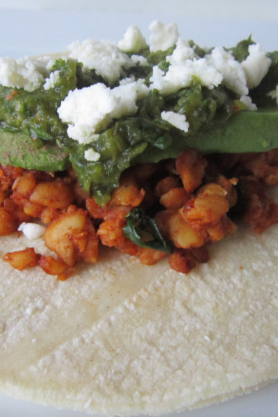 Taco Tuesday: Tempeh Tacos with Roasted Poblano Salsa