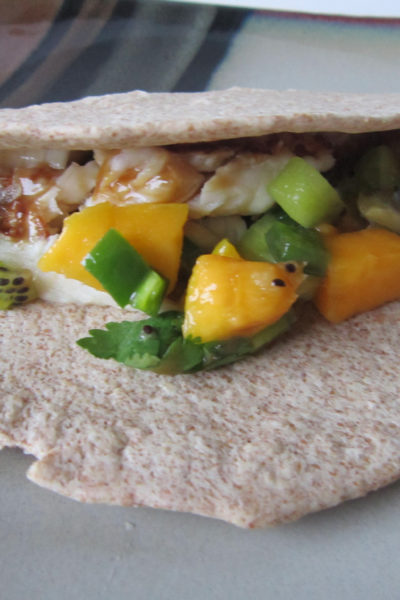 Taco Tuesday: Beer-Glazed Fish Tacos with Kiwi-Mango Salsa
