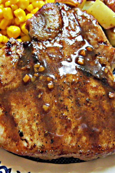 Grilled Pork Chops with Balsamic-Maple Glaze