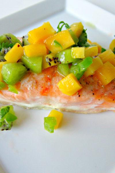 Salmon with Mango Kiwi Salsa