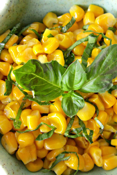 Fresh Basil and Corn Salad