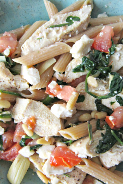 Greek Chicken and Penne Pasta