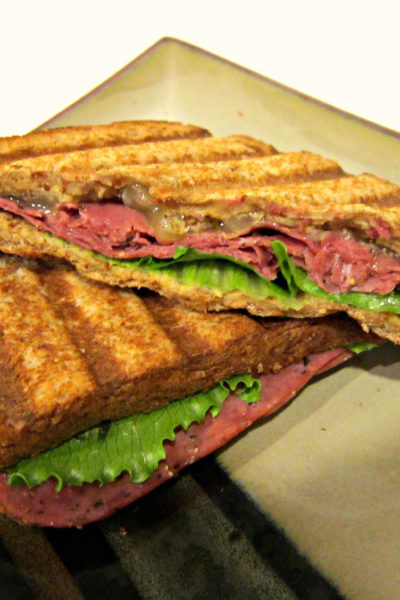 Sammich Saturday: Pastrami and Brie Panini