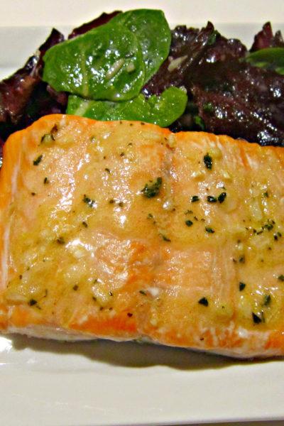 Roasted Salmon with Thyme Vinaigrette