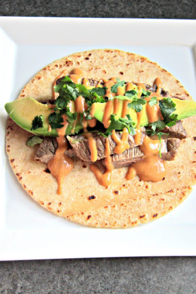 Taco Tuesday: Steak Tacos with Sriracha Peanut Butter Sauce