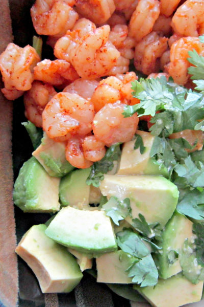 Shrimp & Avocado Salad with Miso Dressing