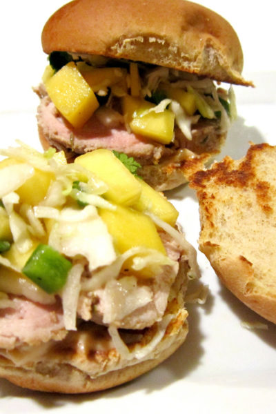 Sammich Saturday: Pork Tenderloin Slider with Mango Slaw