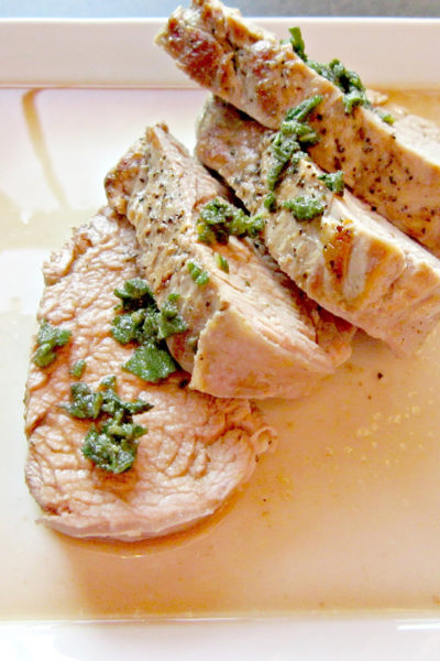 Pork Tenderloin with Sage and Marsala Sauce