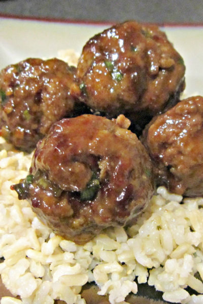 General Tso's Beef Meatballs
