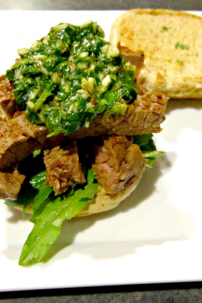 Sammich Saturday: Steak Sliders with Chimichurri Sauce