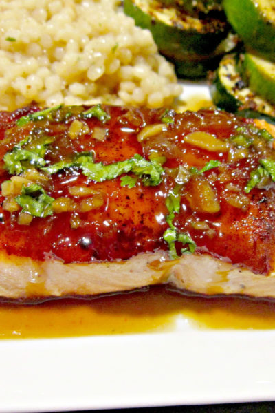 Pan-Seared Salmon with Orange-Coconut Sauce