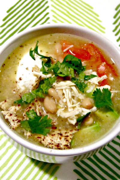 Salsa Verde White Chicken Chili