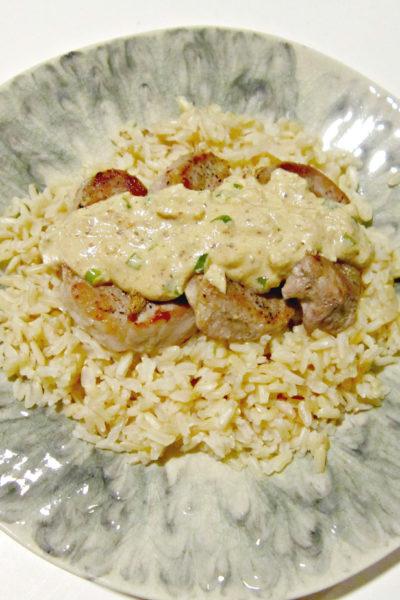 Pork Tenderloin with Dijon-Chive Sauce