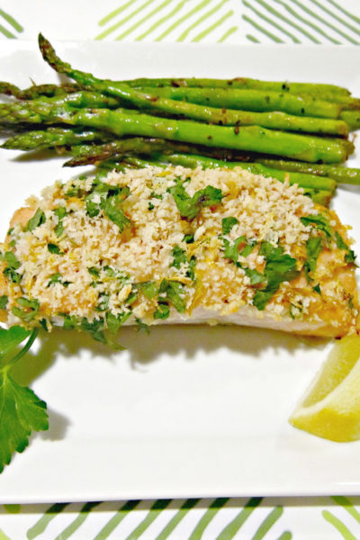 Panko Crusted Honey Mustard Salmon