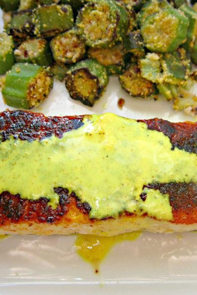 Paprika-Turmeric Salmon with Lemon-Turmeric Sauce