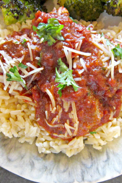Cinnamon Meatballs with Red Wine Marinara Sauce