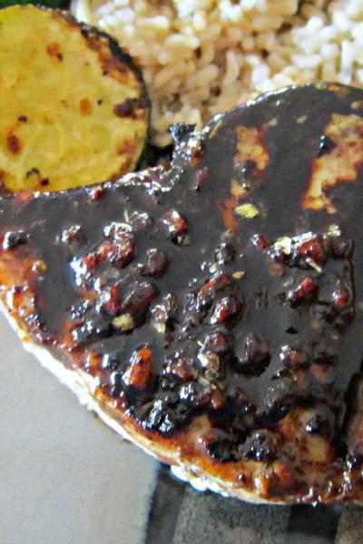 Tuna Steak with Balsamic Reduction