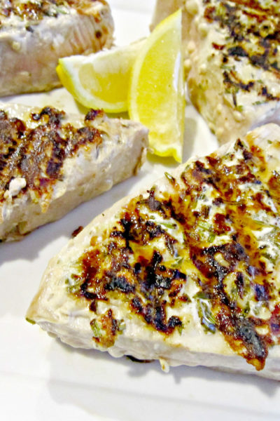 Lemon-Rosemary Tuna Steaks